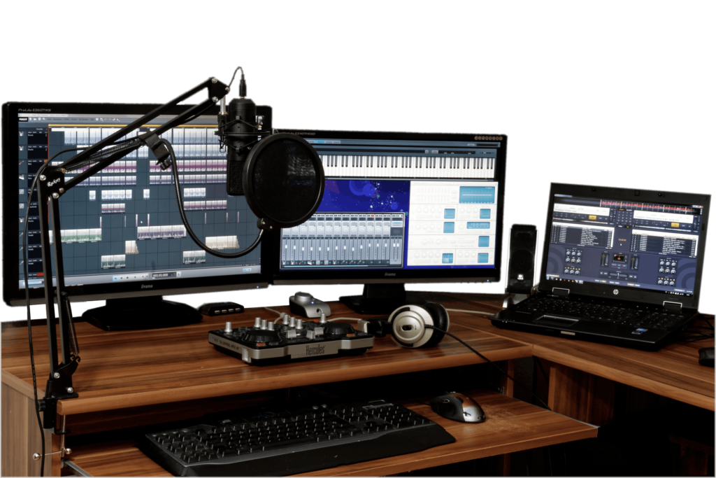 Podcast estudio casero